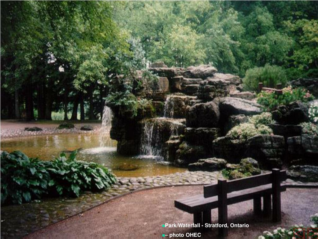 Park/Waterfall - Stratford, Ontario