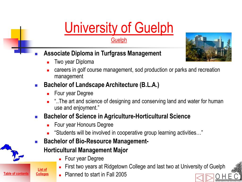 Associate Diploma in Turfgrass Management