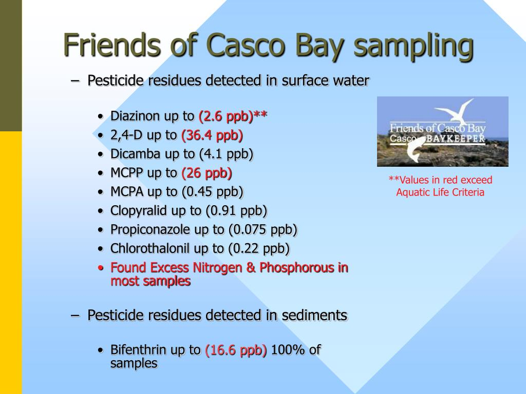 Friends of Casco Bay sampling
