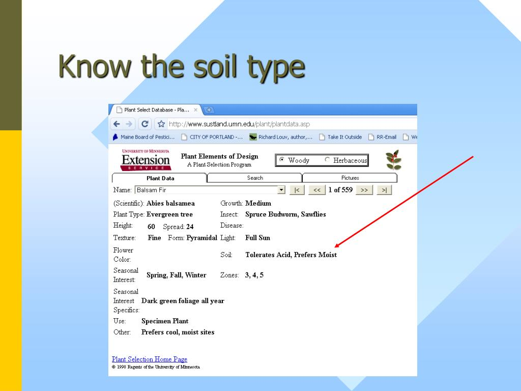 Know the soil type