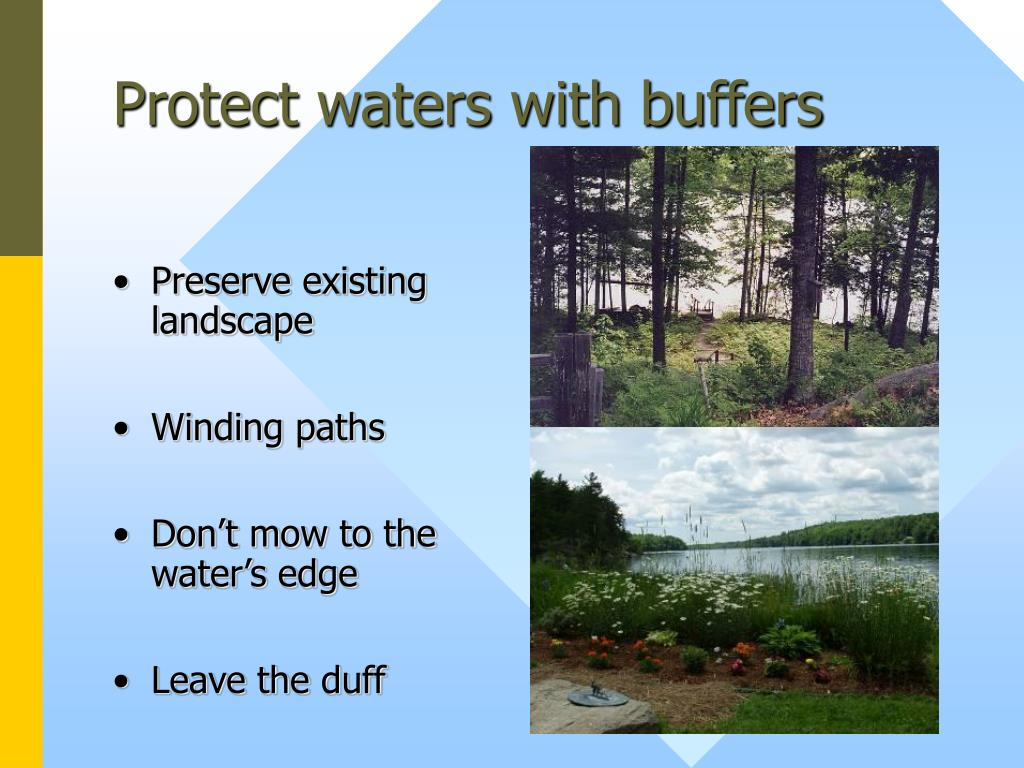 Protect waters with buffers