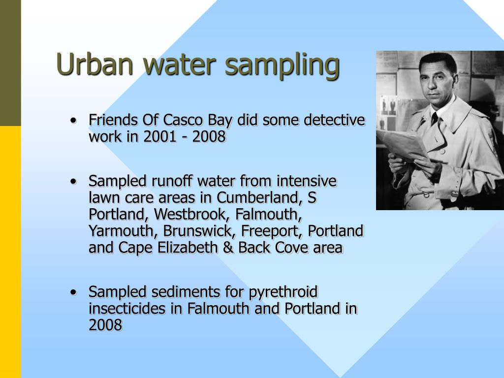Urban water sampling