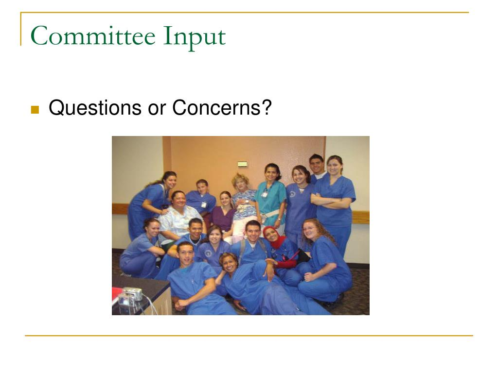 Committee Input