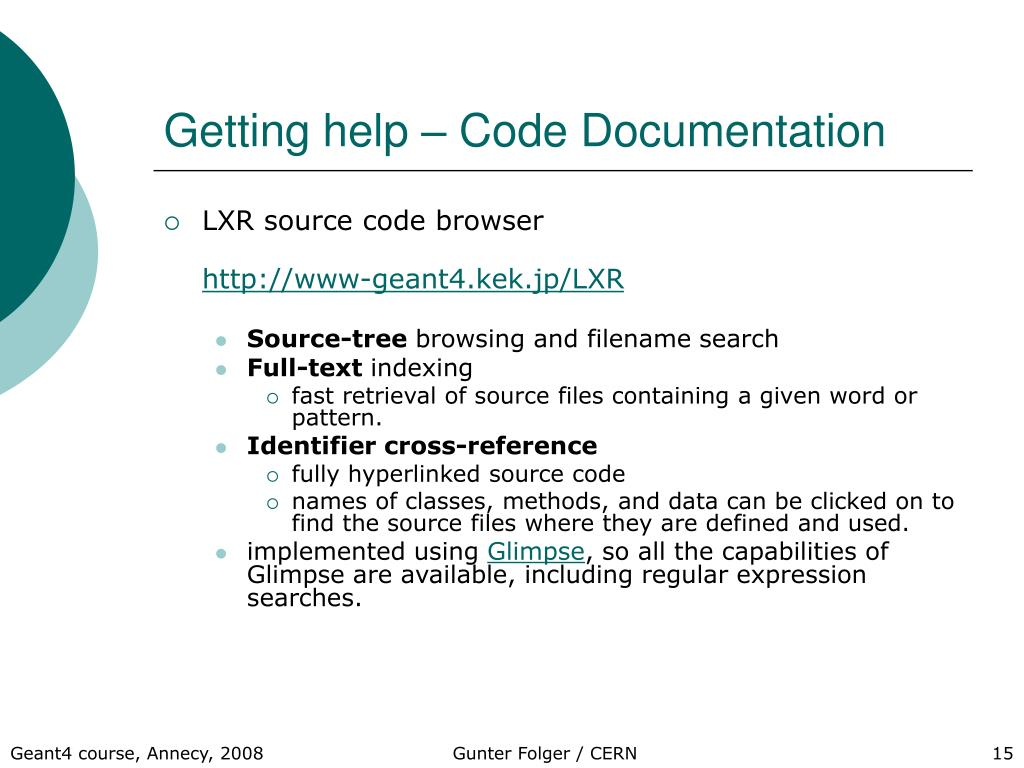 Getting help – Code Documentation