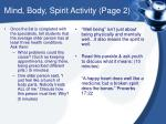 mind body spirit activity page 2