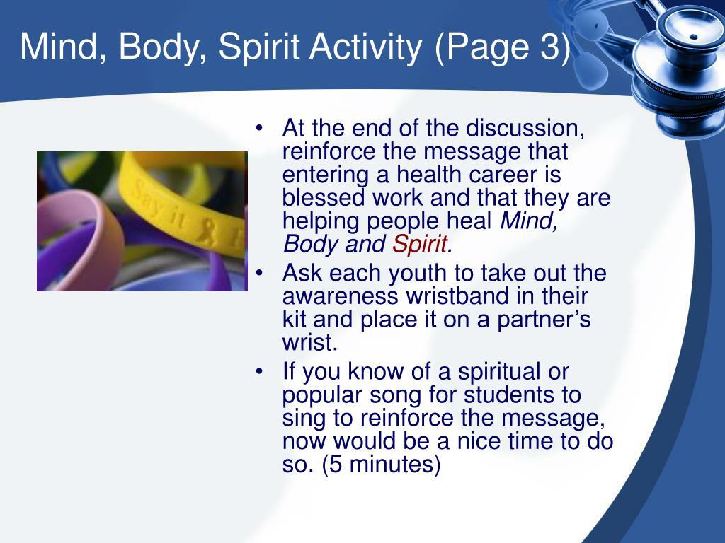 Mind, Body, Spirit Activity (Page 3)