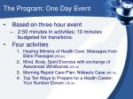 the program one day event