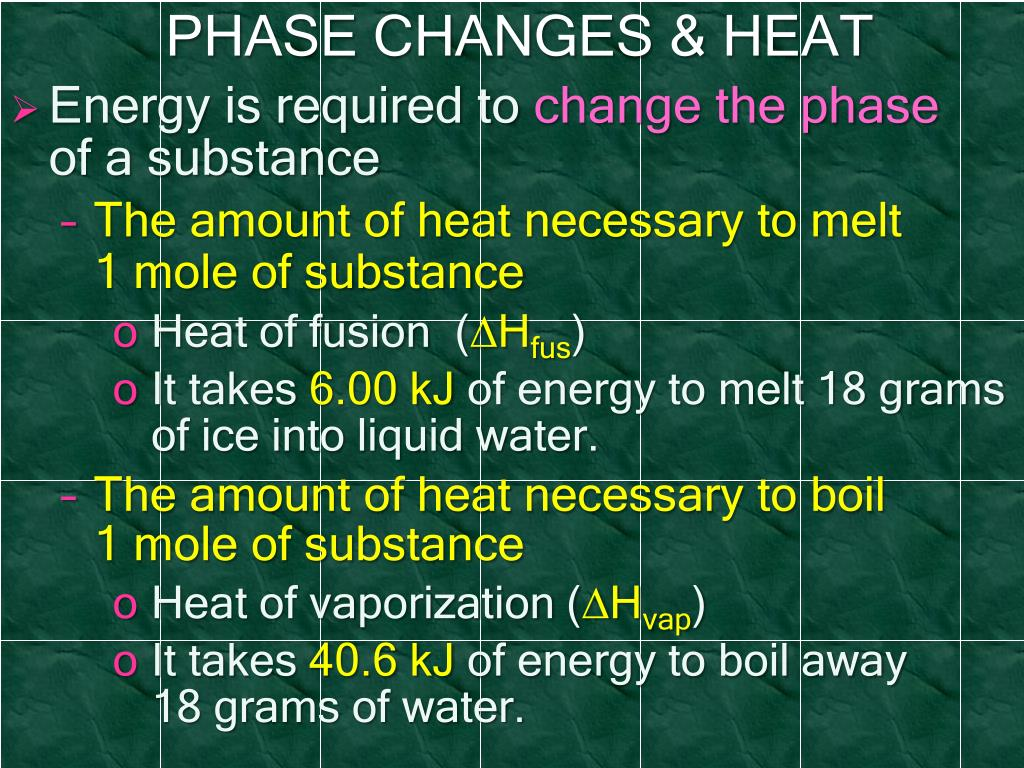 PHASE CHANGES & HEAT