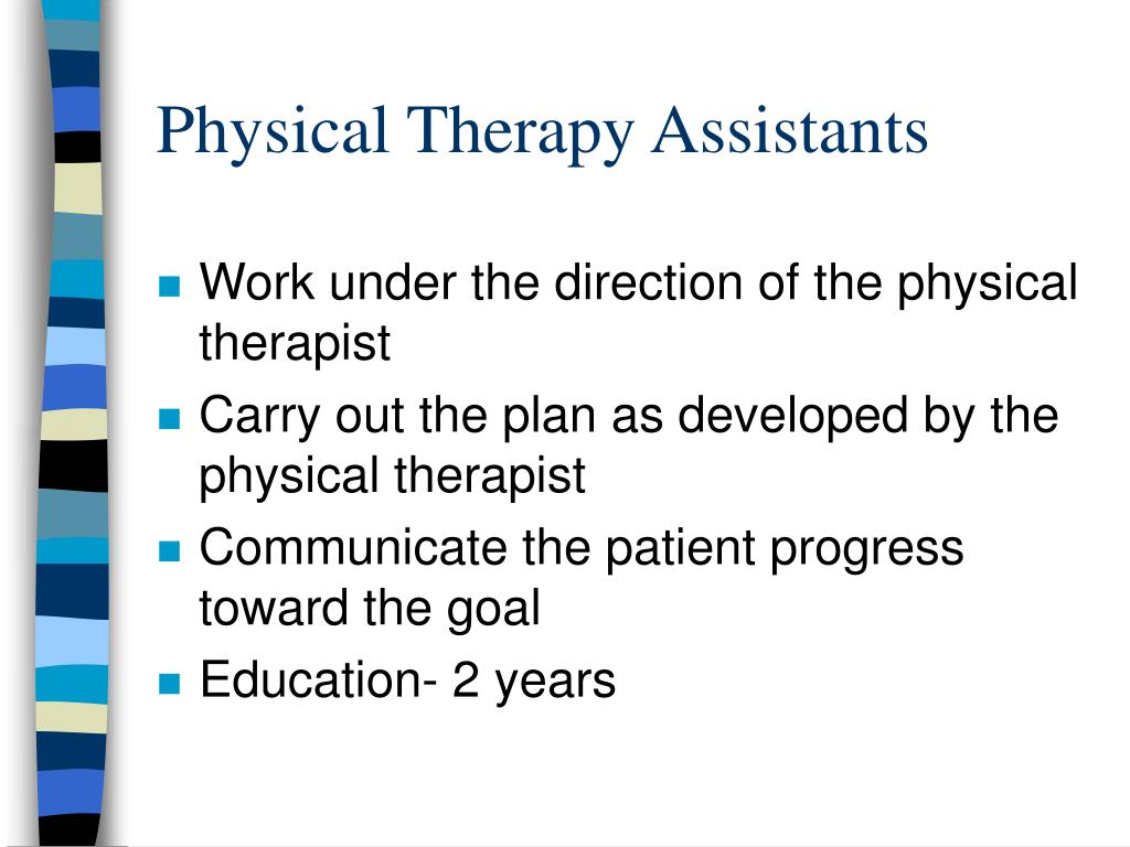 Physical Therapy Assistants
