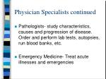 physician specialists continued6