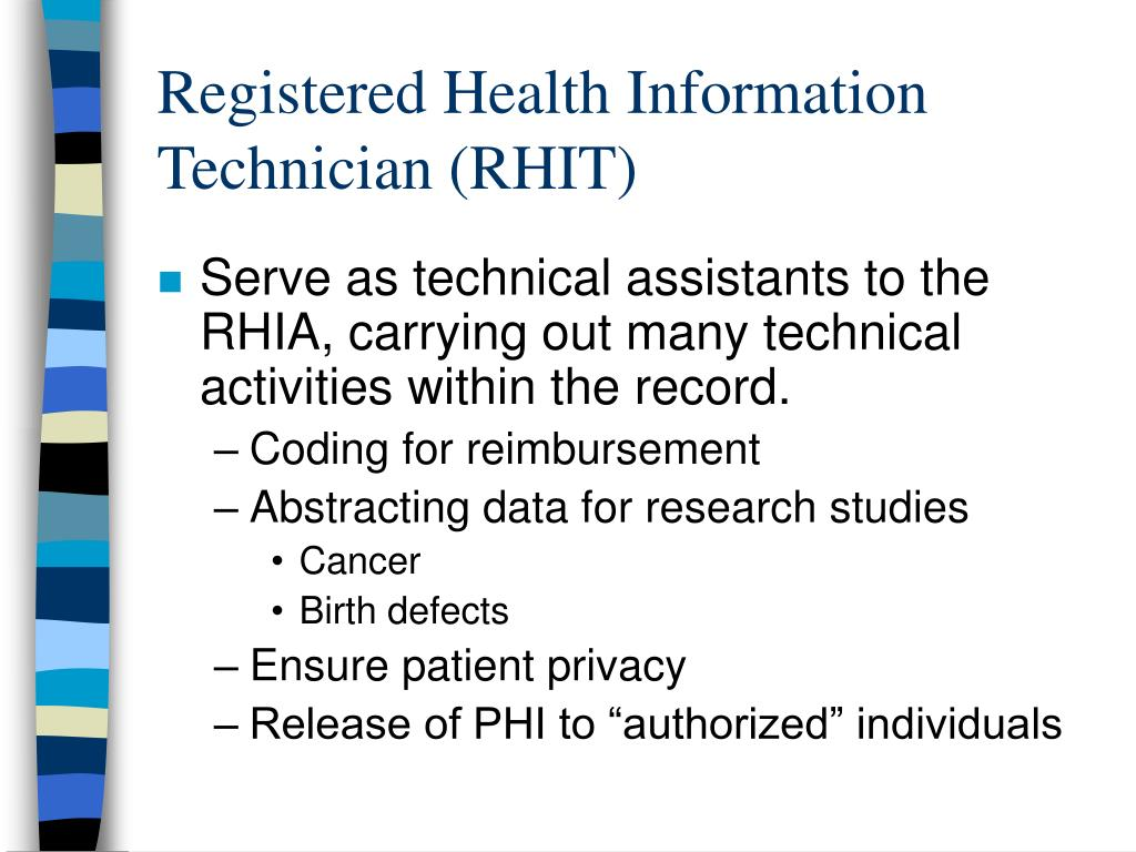 Registered Health Information Technician (RHIT)