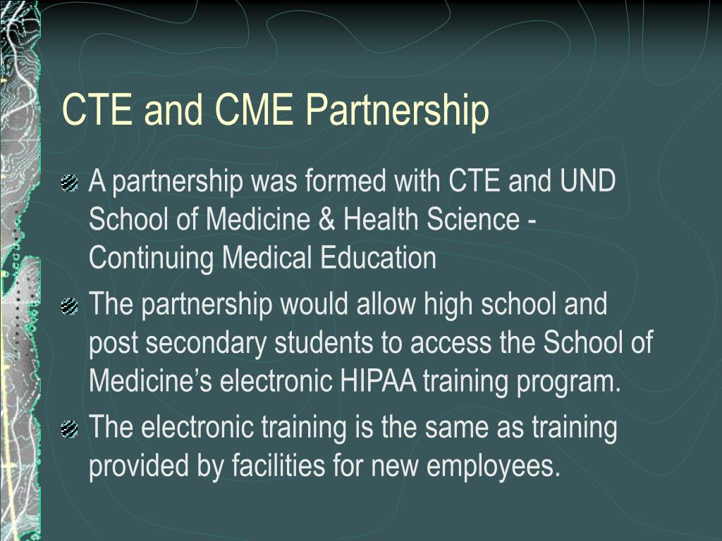 CTE and CME Partnership