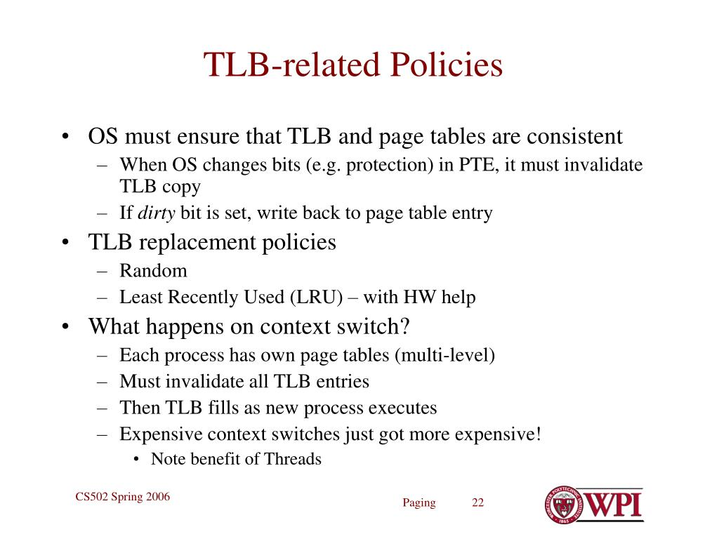 TLB-related Policies
