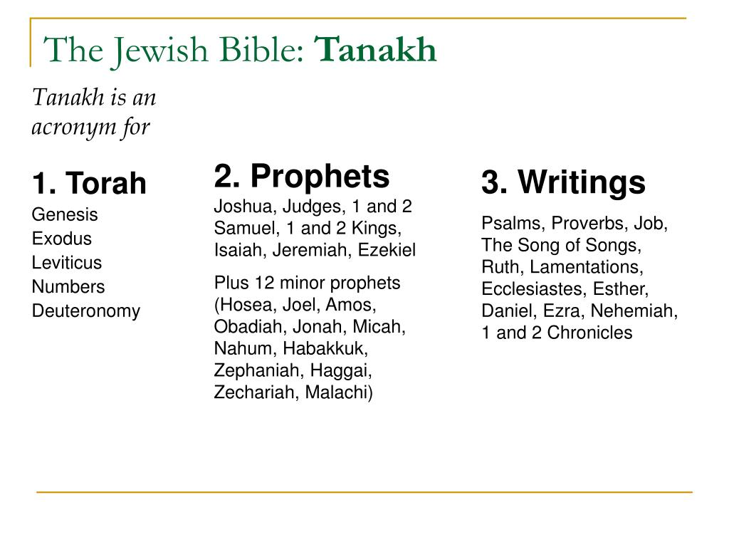 tanakh 1 Genesis: chapters 1-11 relate god's creation of the world and the first humans,  the stories of adam, eve cain and abel, the flood, the tower of babel, and the.