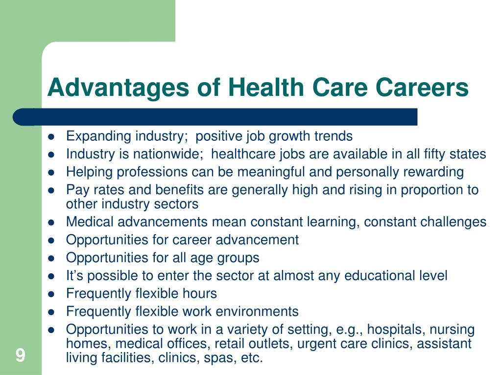 Advantages of Health Care Careers