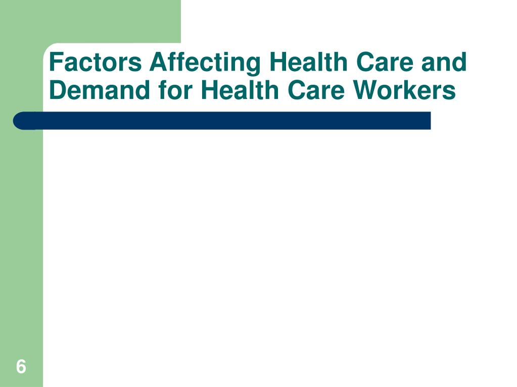 Factors Affecting Health Care and Demand for Health Care Workers