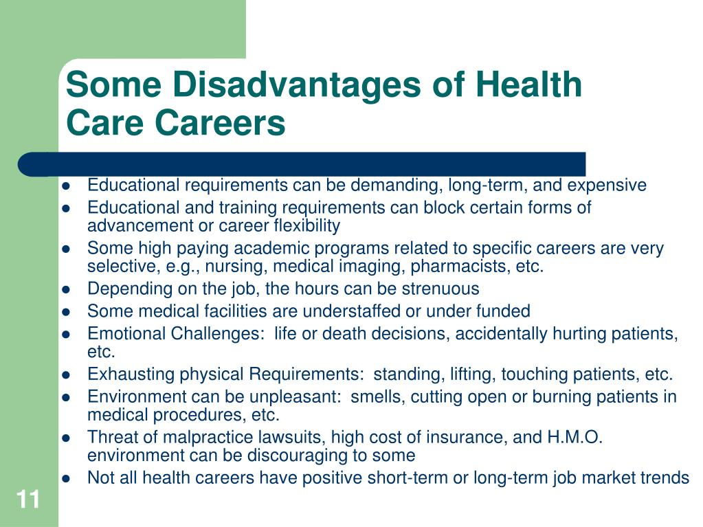 Some Disadvantages of Health Care Careers