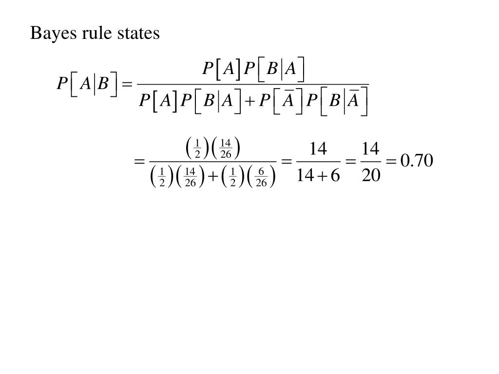 Bayes rule states