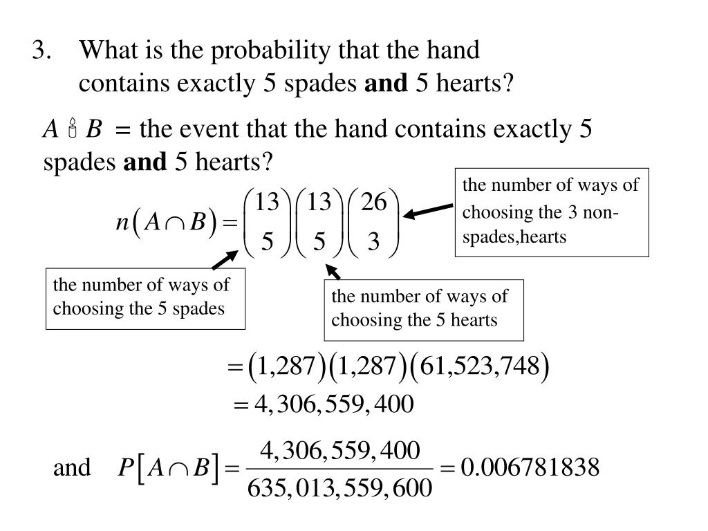What is the probability that the hand contains exactly 5 spades