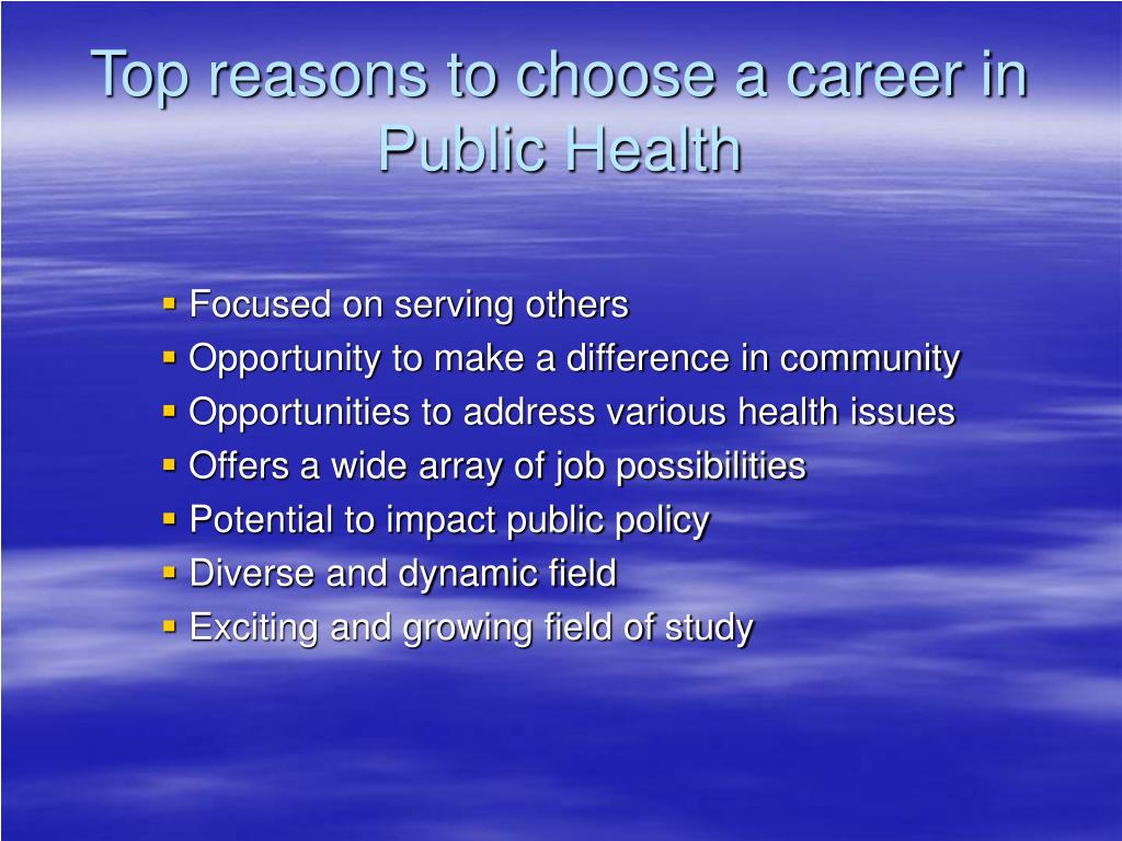 Top reasons to choose a career in Public Health