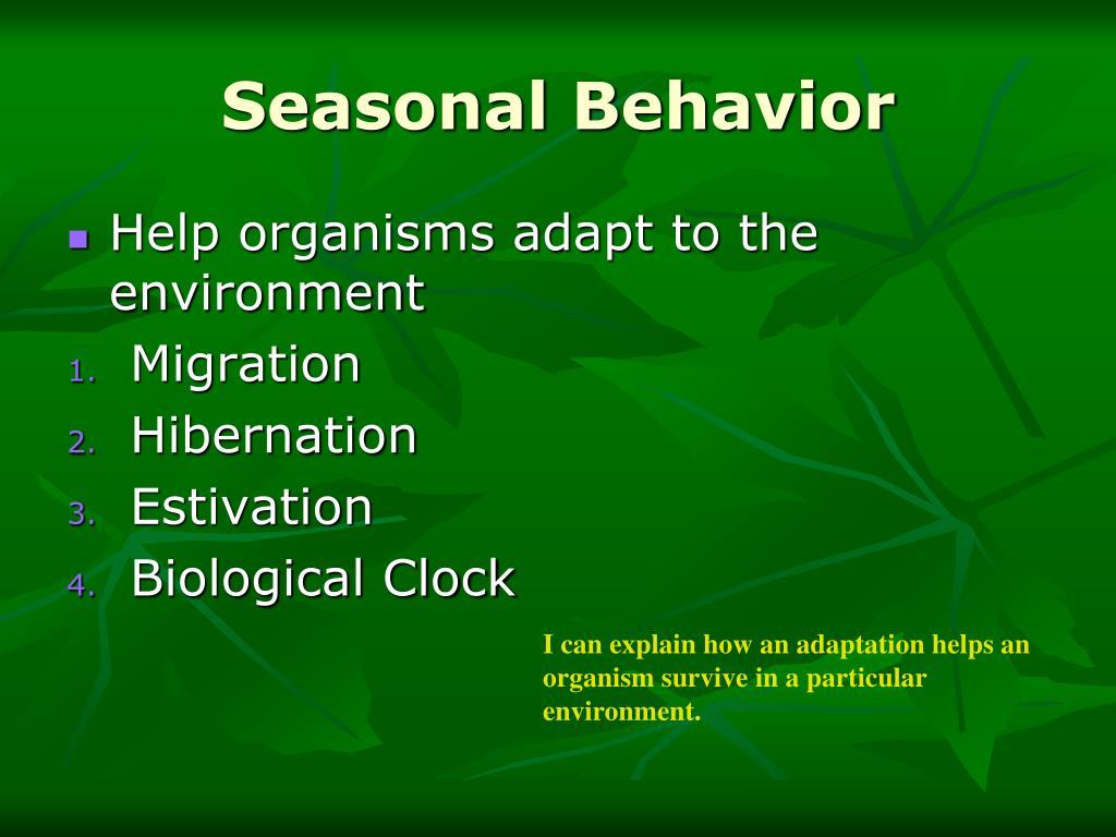 Seasonal Behavior