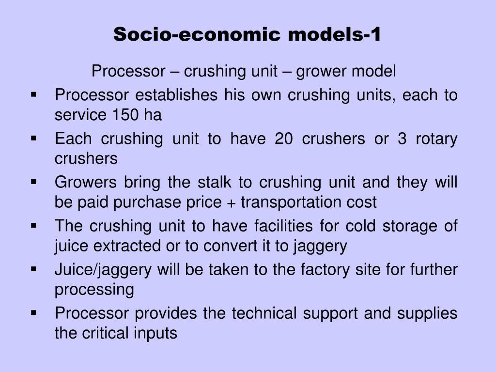 Socio-economic models-1