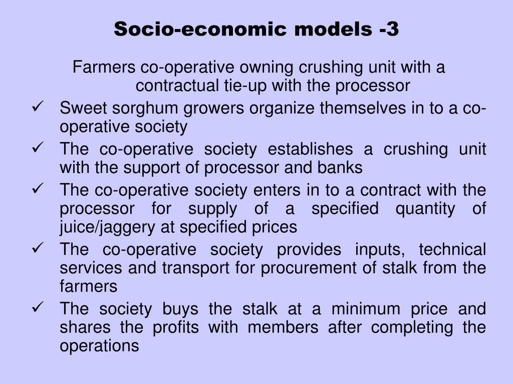 Socio-economic models -3