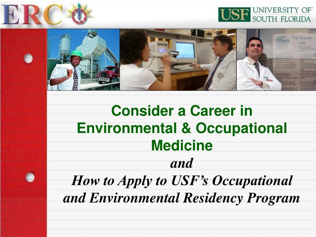 Consider a Career in Environmental & Occupational Medicine