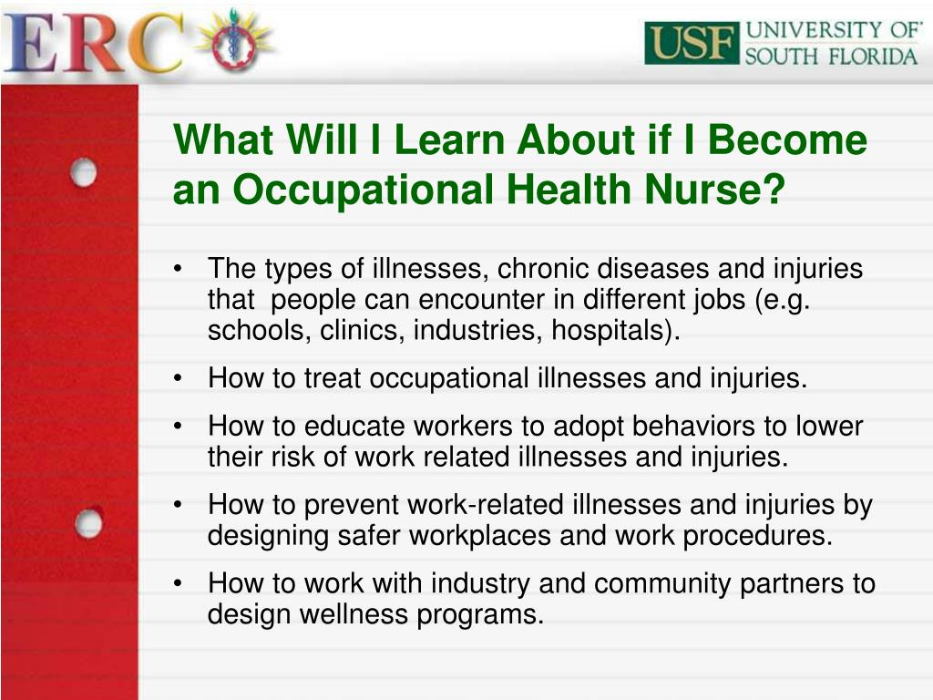 What Will l Learn About if I Become an Occupational Health Nurse?