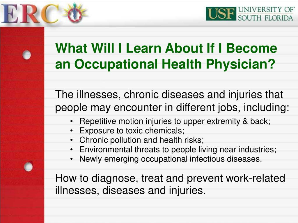 What Will l Learn About If I Become an Occupational Health Physician?