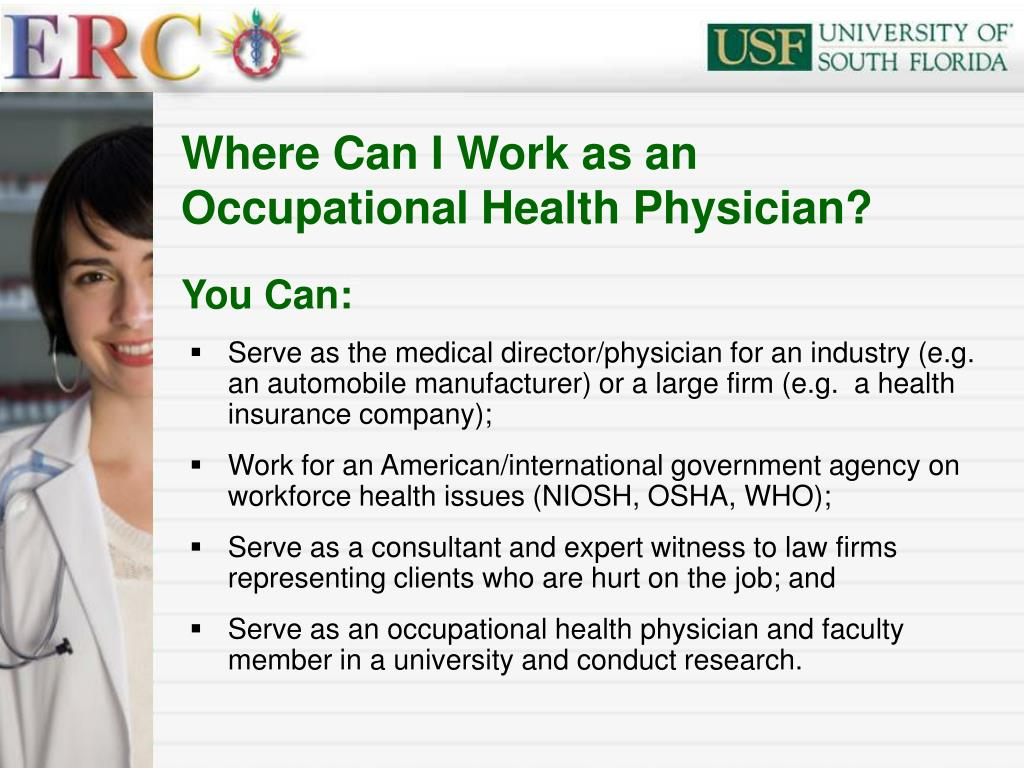 Where Can I Work as an Occupational Health Physician?