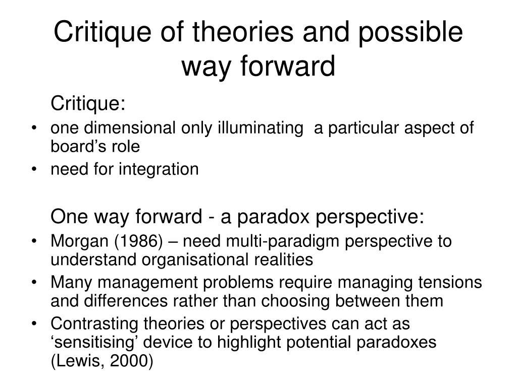 contrasting theorist