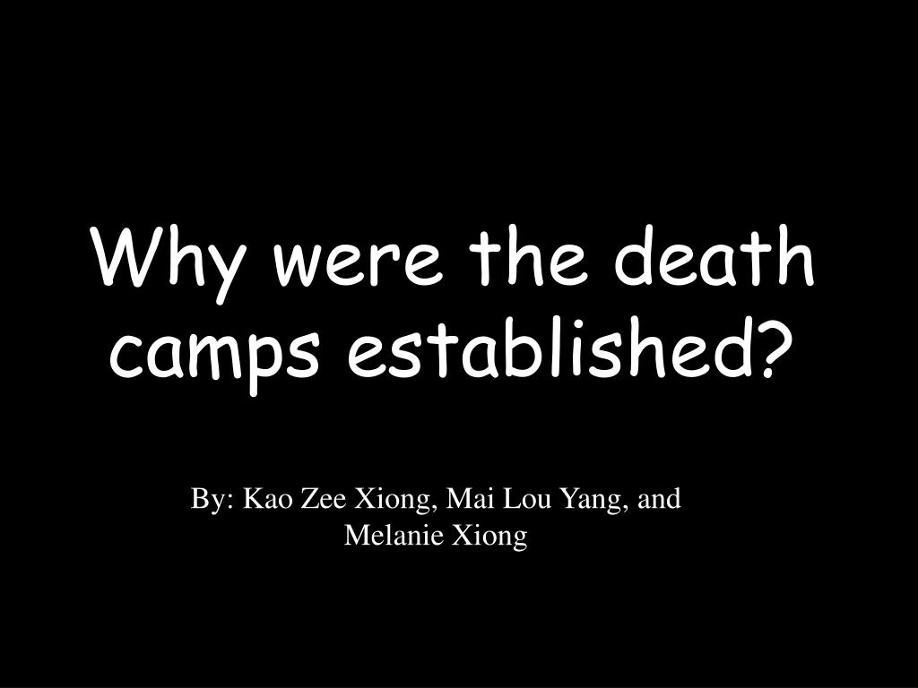 Why were the death camps established?