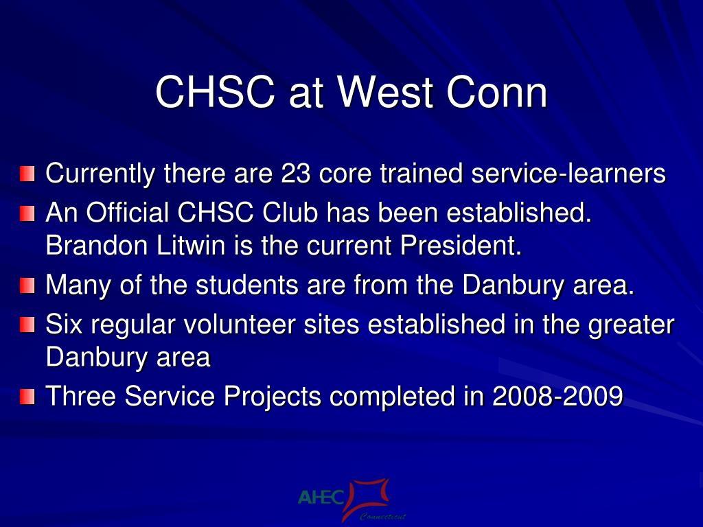 CHSC at West Conn