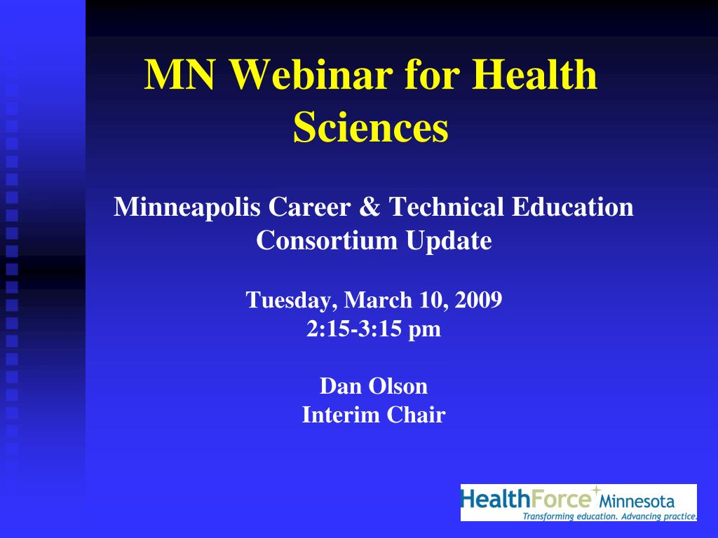 MN Webinar for Health Sciences