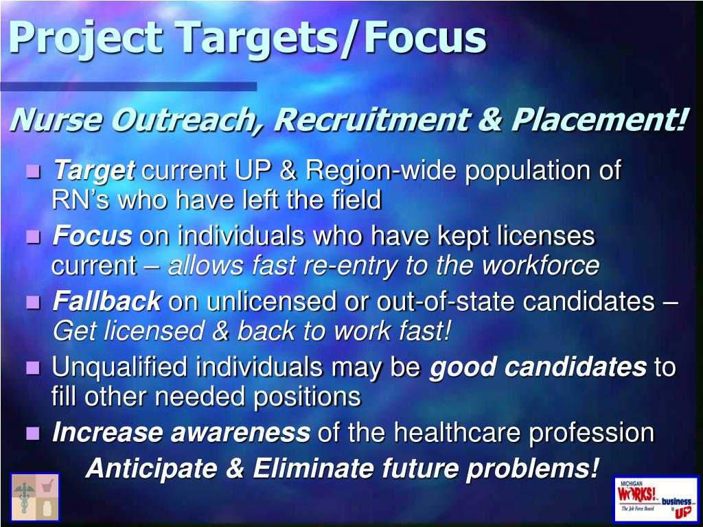 Project Targets/Focus