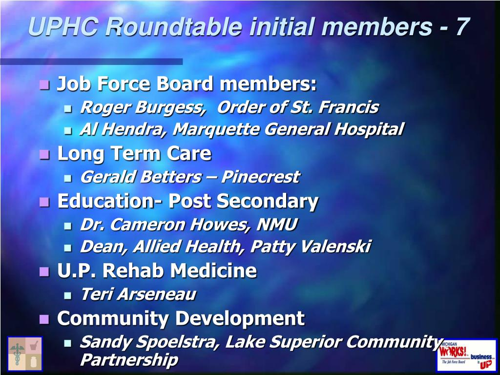 UPHC Roundtable initial members - 7