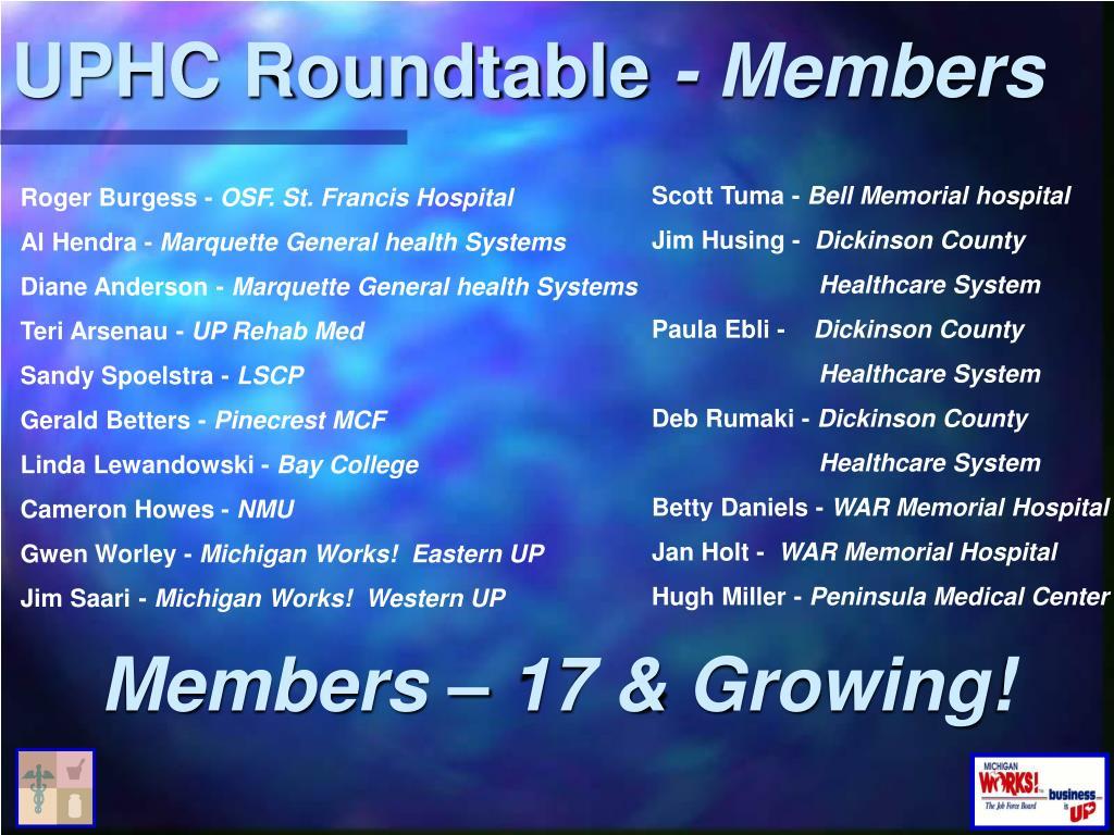 UPHC Roundtable