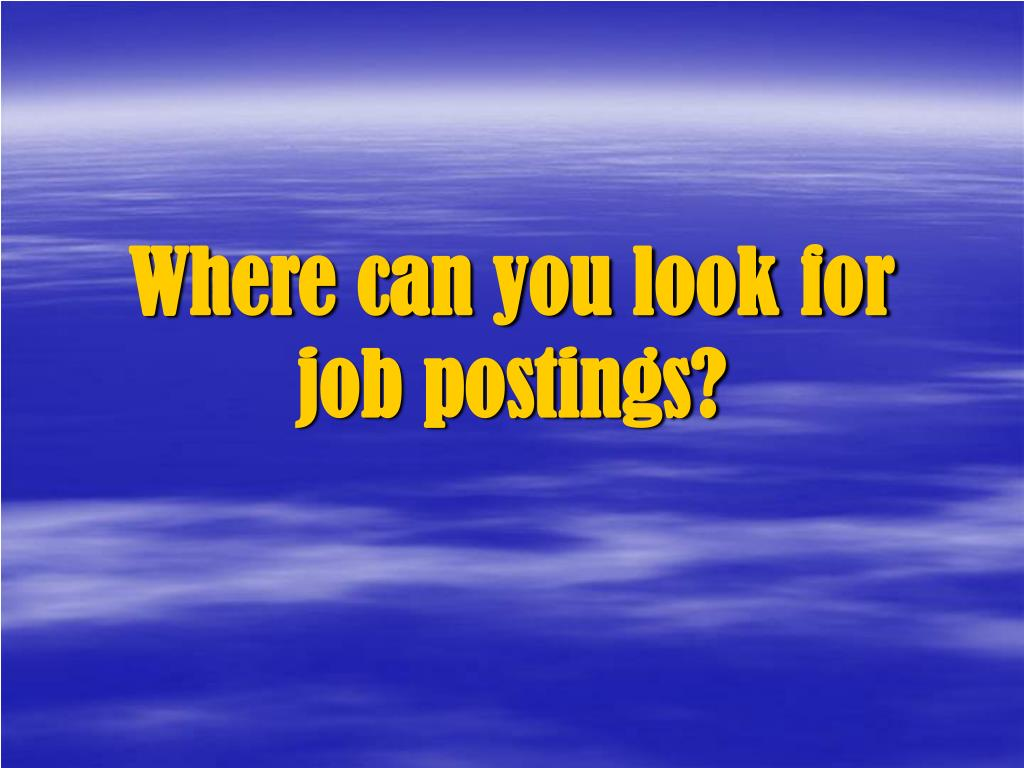 Where can you look for