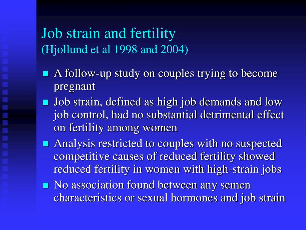Job strain and fertility