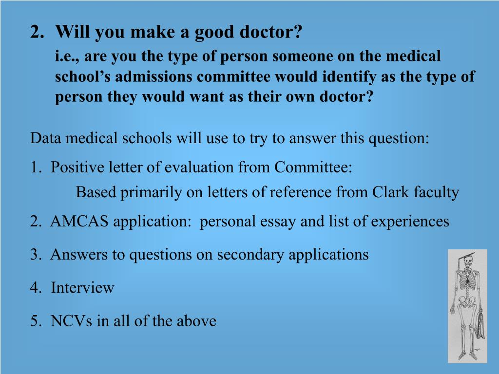 Will you make a good doctor?