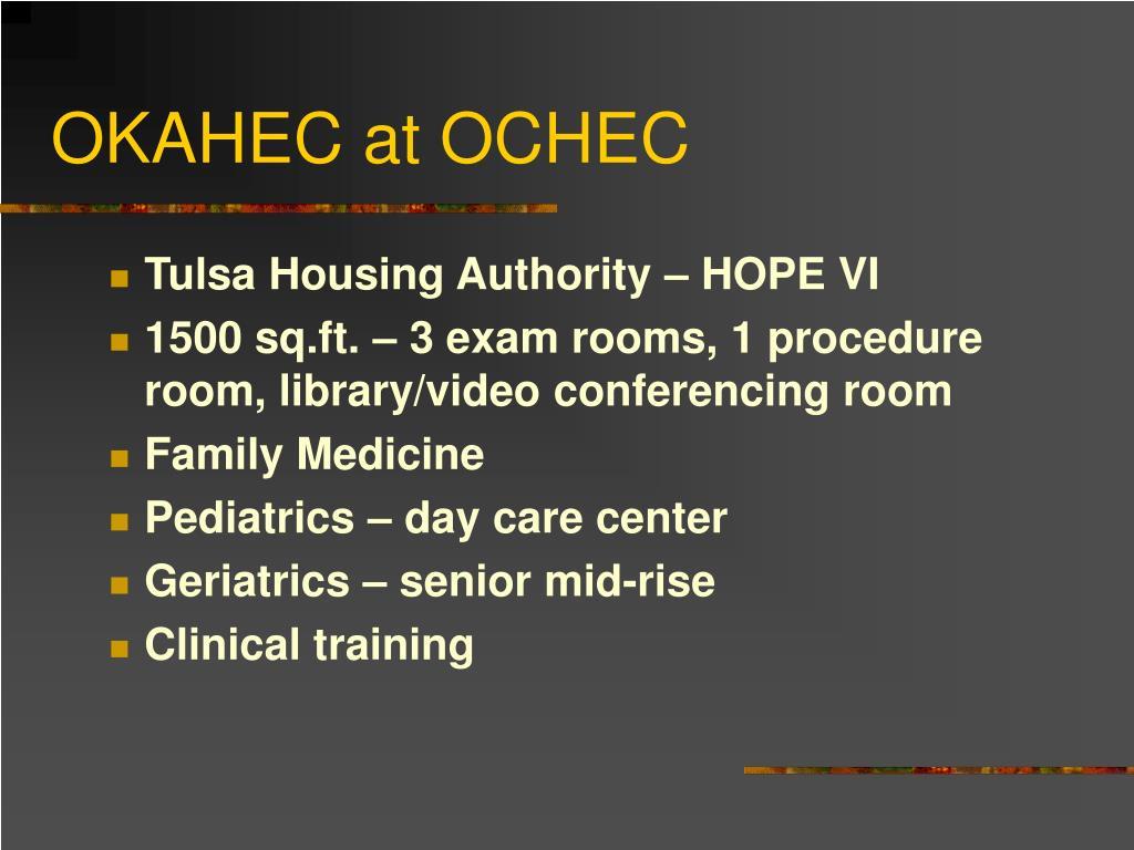 OKAHEC at OCHEC