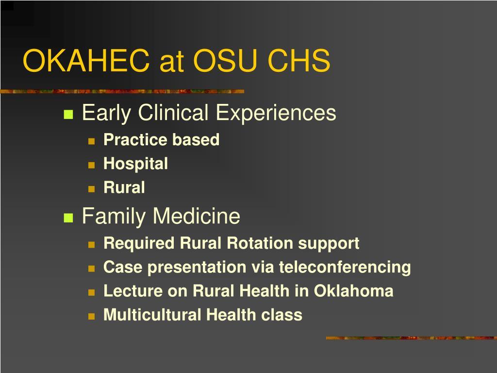 OKAHEC at OSU CHS