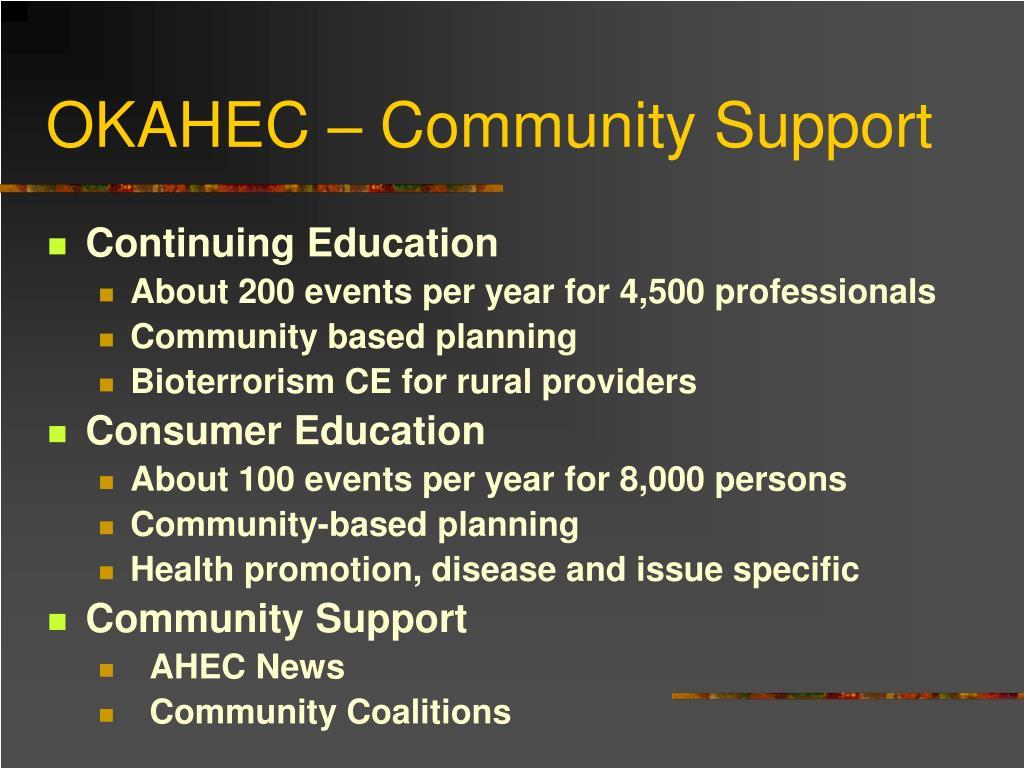 OKAHEC – Community Support