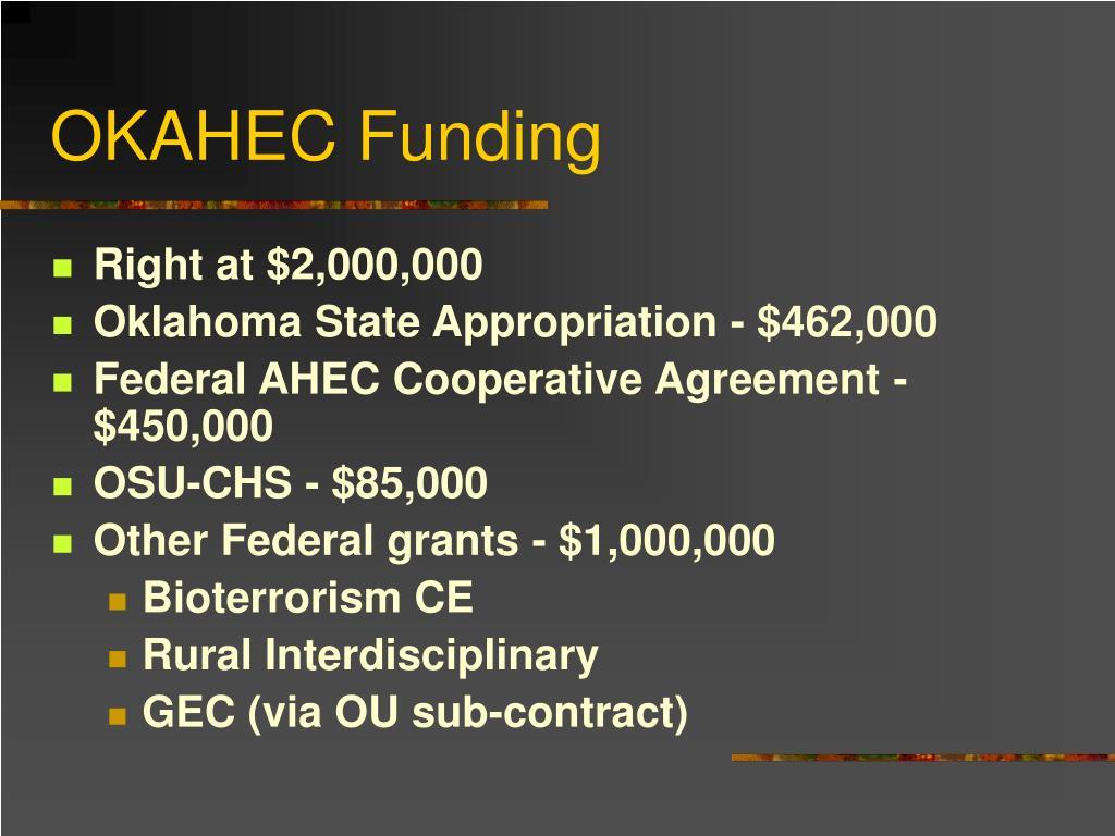 OKAHEC Funding