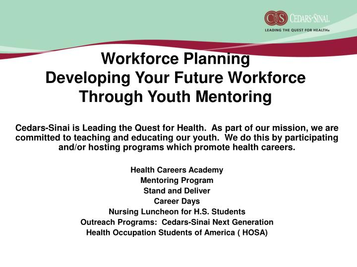 Workforce planning developing your future workforce through youth mentoring l.jpg