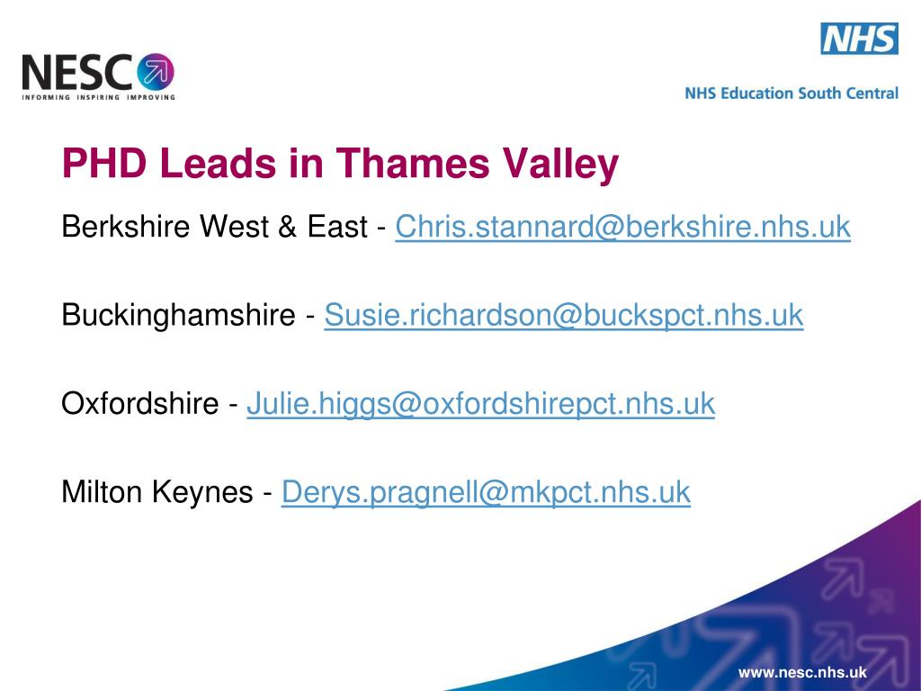 PHD Leads in Thames Valley