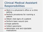 clinical medical assistant responsibilities