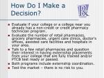 how do i make a decision