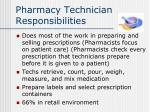 pharmacy technician responsibilities
